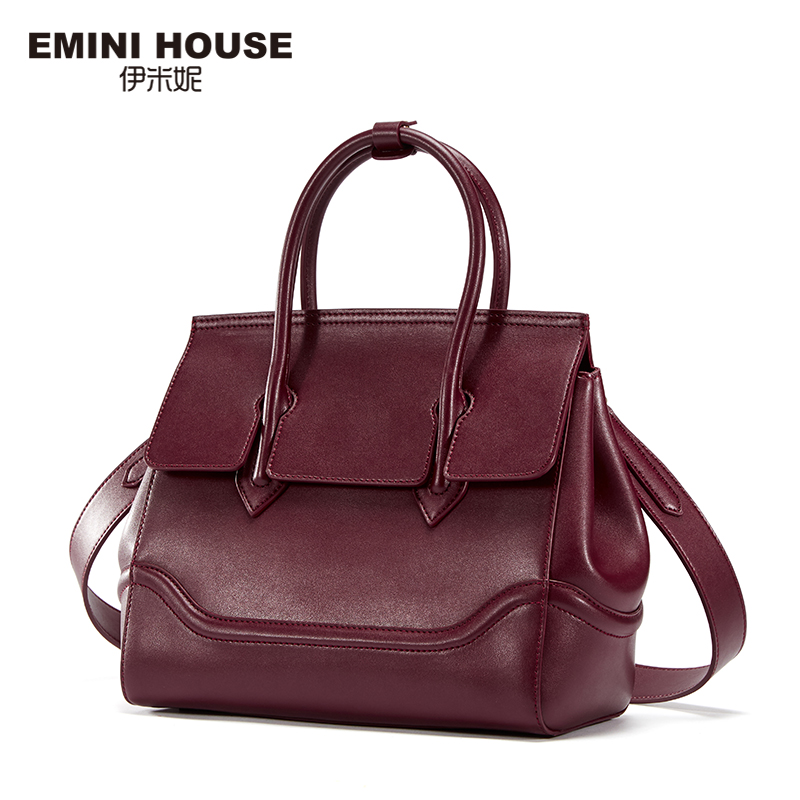 EMINI HOUSE Fashion Split Leather Luxury Handbags Women Bags Designer Women Messenger Bags High Quality Women Shoulder Bag
