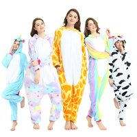 Flannel Animal Stitch Unicorn Panda Bear Koala Pikachu Onesie Adult Unisex Costume Pajamas Sleepwear For Men