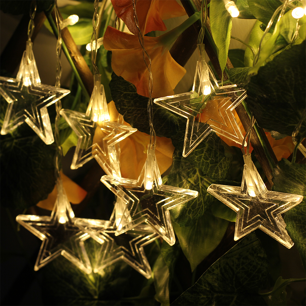 Curtain LED String 350CM 96leds Star Strip Hanging Night Lamp AC220V Festival Holiday Christmas Fairy Party Decor