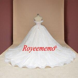 Image 2 - 新夜会服のウェディングドレス光沢のあるウェディングドレスカスタムメイド工場卸売価格ロイヤル電車ブライダルドレス