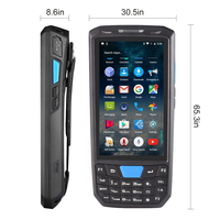 Pda Android Barcode Scanner Wireless mobile phone handheld data terminal wifi barcode reader 1D laser 2D QR scannner Wifi GPAS
