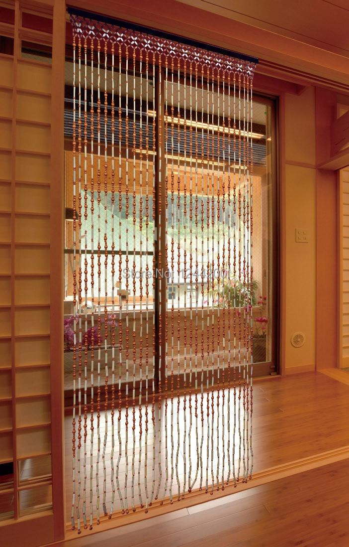 Fashion Wood Bead Door Curtain Bamboo Door Curtain, Feng Shui Curtain,  Chinese Vestibule Curtain