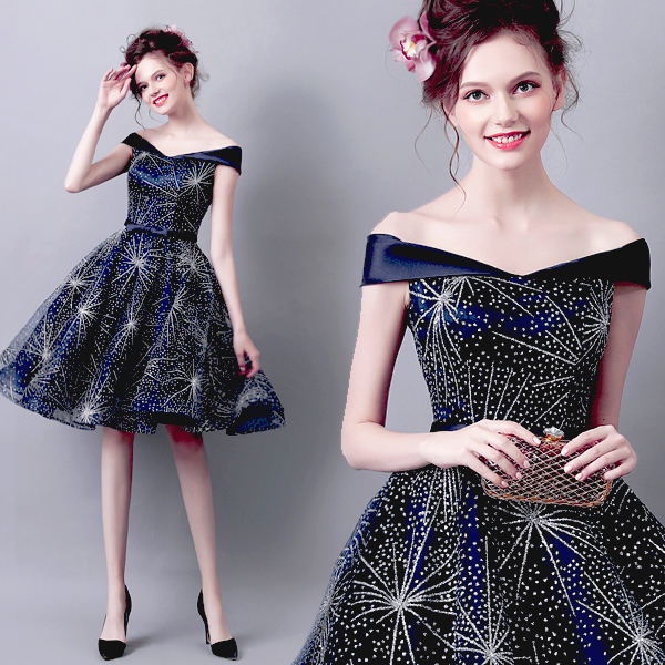 Hot fix rhinstones   Cocktail     Dresses   short for special evening party Elegant A Line 2018 Special Occasion Party   Dresses   prom gown