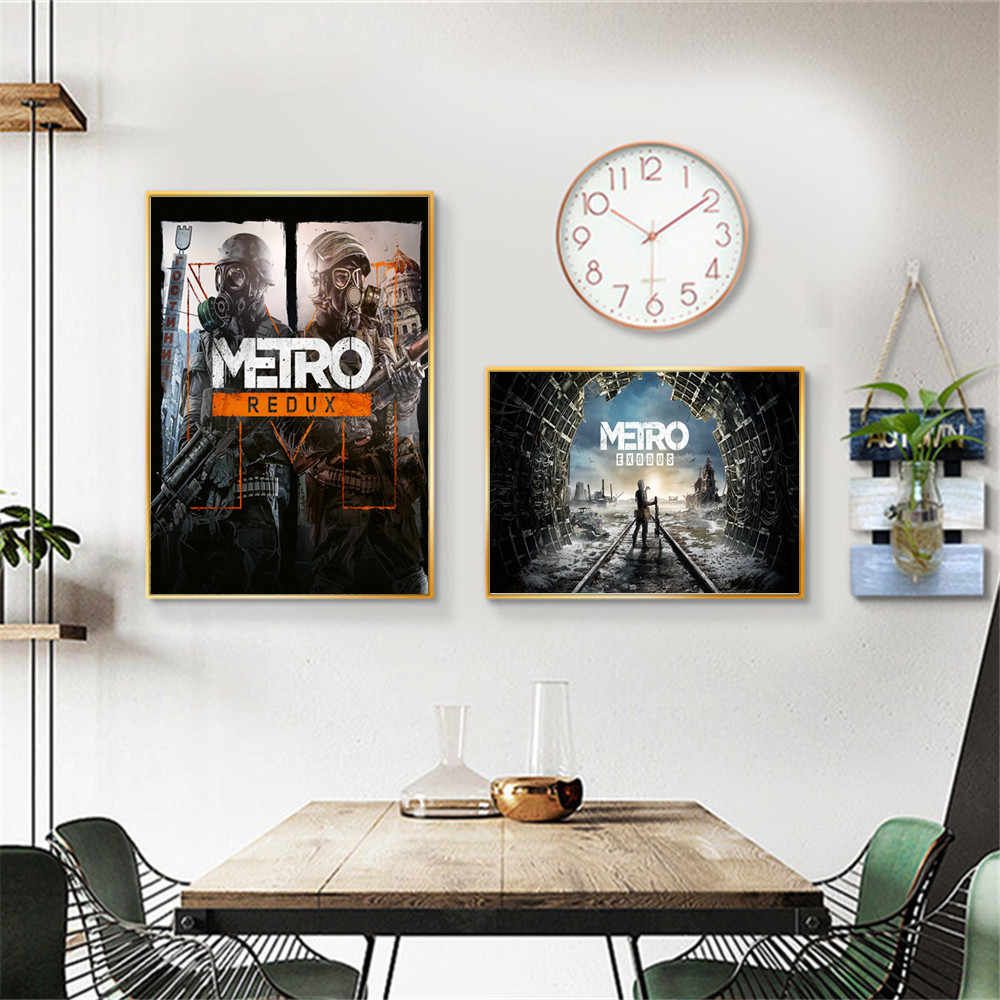 Metro Exodus Video Game Artwork Canvas Painting Wall Art Nordic Decoration Home Modern Poster For Living Room Print Pictures