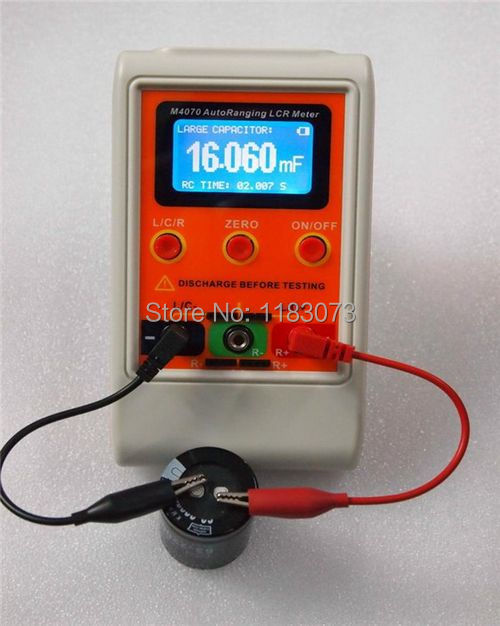 AutoRanging LCR Bridge Meter LCD Rechargeable Digital Capacitance Inductance Meter Large Range100H 100mF 20MR M4070 FreeShipping