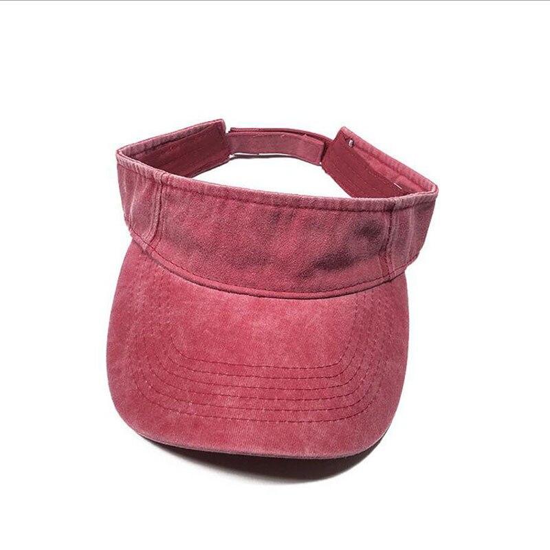 New Empty Top Quick-Drying New Cotton Wash Denim Summer Breathable Visor Hat   Baseball     Cap   Men Women Snapback Outdoor Sun Hat