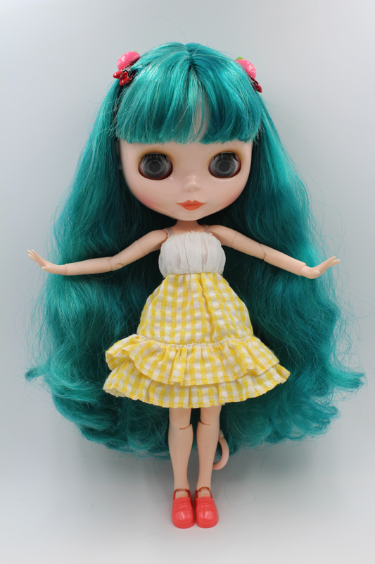 Free Shipping BJD joint RBL-208J DIY Nude Blyth doll birthday gift for girl 4 colour big eyes dolls with beautiful Hair cute toy все цены