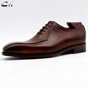 Image 2 - Cie zapatos de vestir de cuero para hombre, calzado de oficina marrón, suela de Piel De Becerro auténtica, trajes de cuero Formal, hechos a mano, n. ° 8
