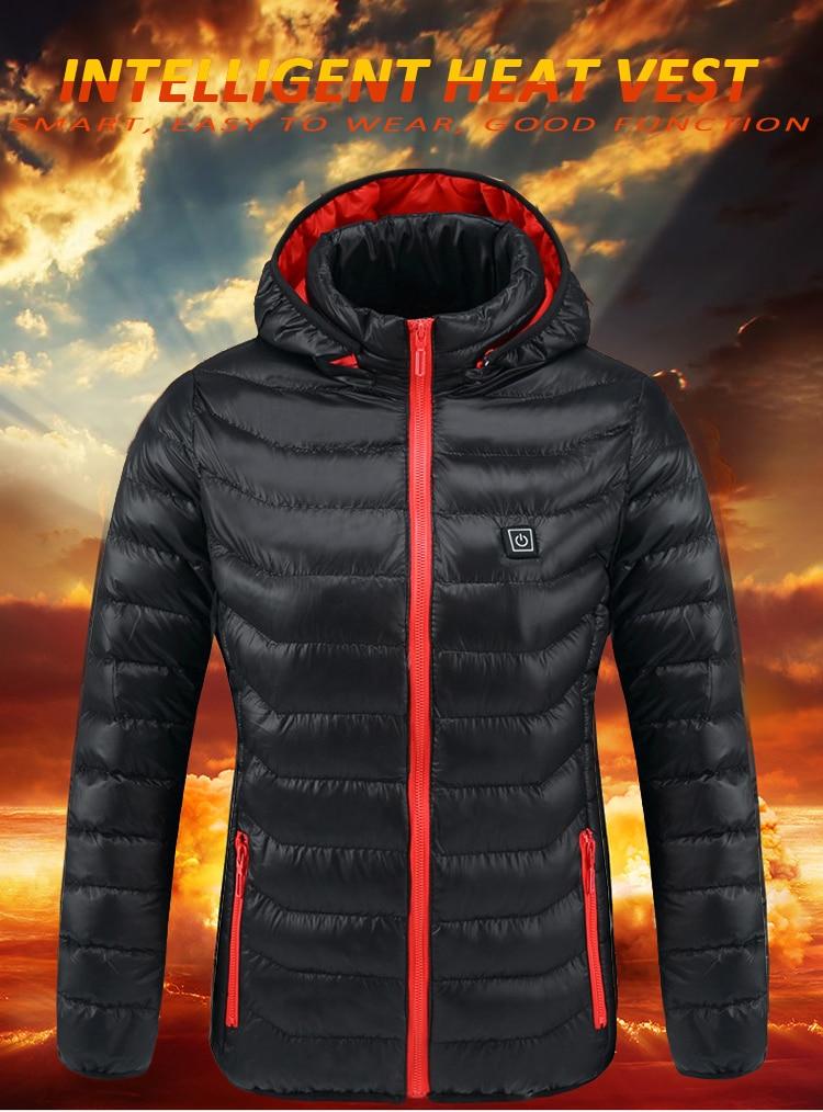 Inteligente aquecido jaquetas masculinas e femininas inverno