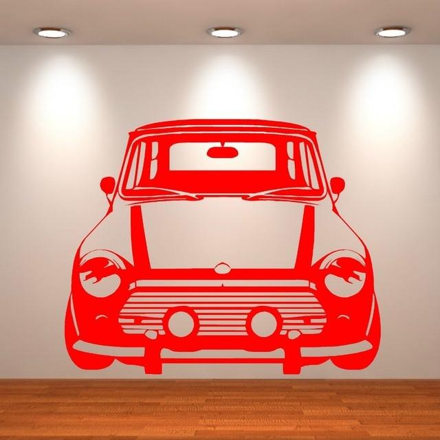 Classic Mini Cooper Vinyl Wall Art Car Sticker Bedroom Living Room