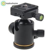 360Degree Quick Release Plate Ball Head Ballhead 1/4 Screw Mount Stand For Nikon Canon Sony DSLR Gopro Sport Camera Accessories
