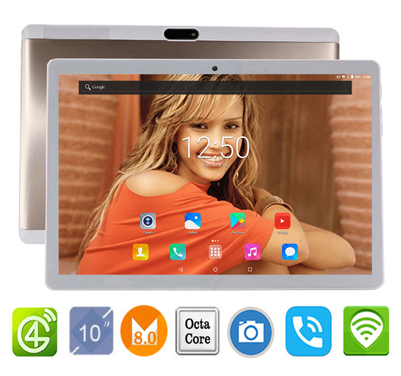 2019 New 2 5D Tempered Glass 10 inch tablet Android 7 0 MT8752 Octa Core 4GB
