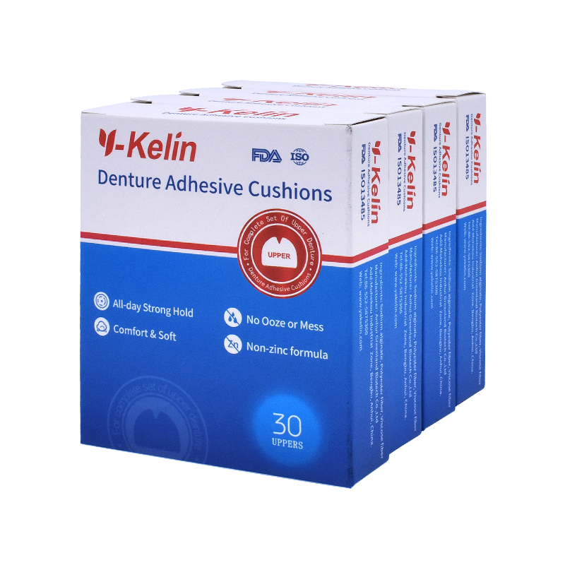 Y-Kelin Denture Adhesive Cushion 120 pads for Upper Jaw upper denture (30pads *4 packs) y kelin 6boxes