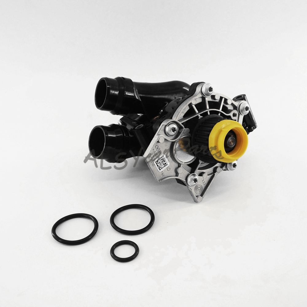 KEOGHS Water Pump Thermostat Assembly Fit AUDI A4 A5 A6 1.8T 2.0T VW Passat Golf GTI Tiguan Jetta 1.8T 2.0T 06H 121 026 CQ oem engine water pump fit vw jetta gti golf gti tiguan passat audi a3 a4 a5 a6 a8 ea888 1 8tfsi 2 0tfsi 06h 121 026 cq