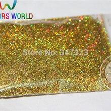 0,4 мм лазерный свет золотого цвета голографический блеск для ногтей гель лак для ногтей или другие украшения искусства блестки