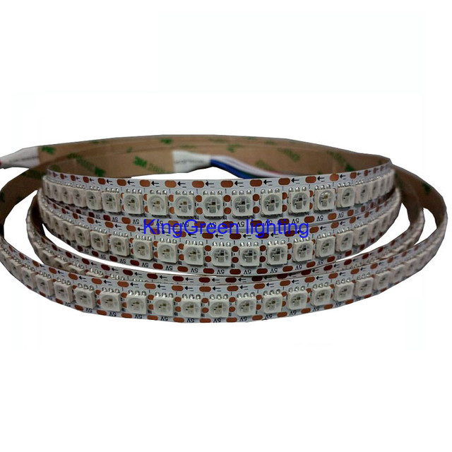 1mX Newest WS2813 update of WS2812B dream color 5050SMD RGB led strip light 144LED/m white and black PCB available free shipping