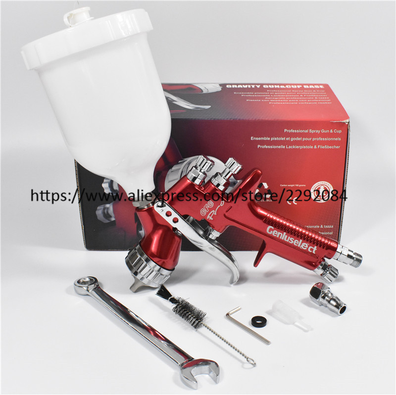 professional spray gun gfg red HVLP car paint gun 1 3mm automotive Gravity feed painting tools