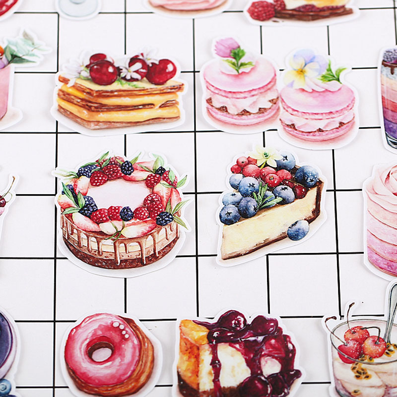 20 Pcs/Pack Food Donut Dessert Cake Scrapbooking Stickers Decorative Sticker DIY Craft Decoracion Journal Photo Albums