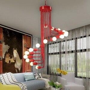 Image 2 - Nowoczesne lampy LED Nordic oświetlenie do salonu lampy bar żyrandol restauracja światła wiszące cafe nowość jadalnia żyrandole