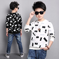 Children T-Shirts For Boys Clothing Children Tops 5-14Years Long Sleeve School Boys Tees Cotton Casual Teenager Clothes