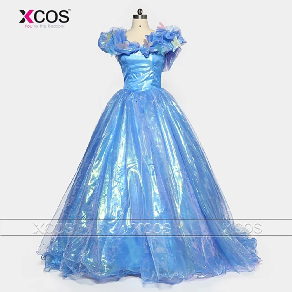 Puffy-Prom-Dresses-2016-Cinderella-Real-Picture-Ball-Gown-Organza-Evening-Gowns-Sweep-Train-Corset-Back