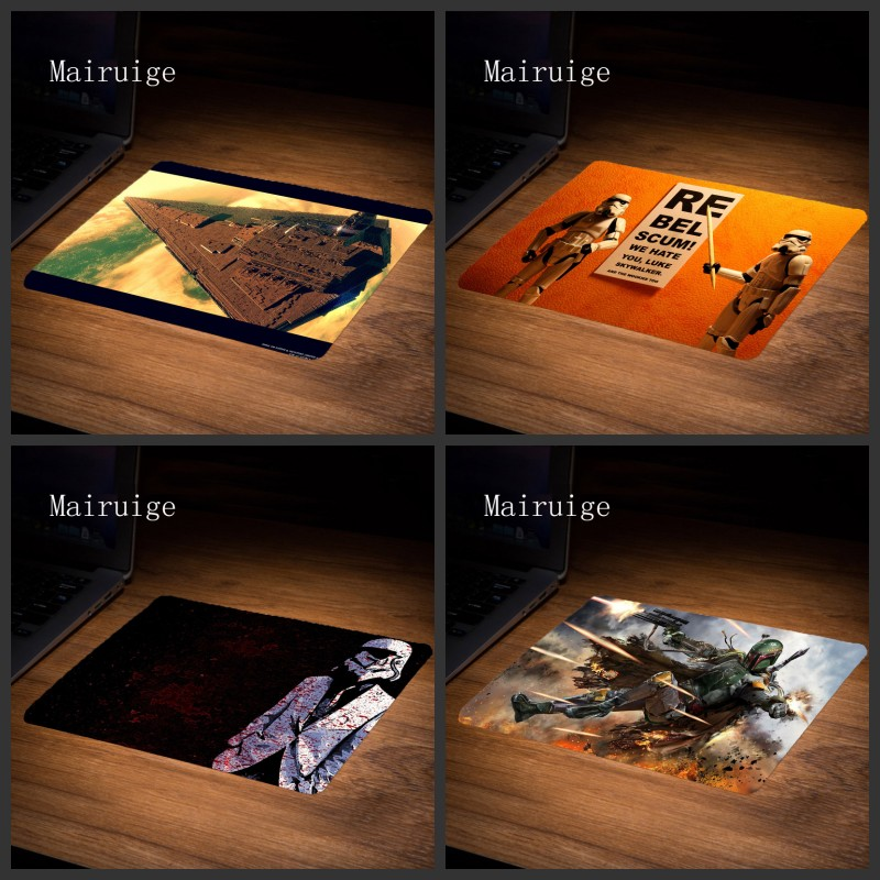 Mairuige Hight Quality star wars Gaming Rubber Mousepads Decorate Your Desk Anti-slip Rubber Mousepads 22x18/25x20/29xx25CM Diy ...
