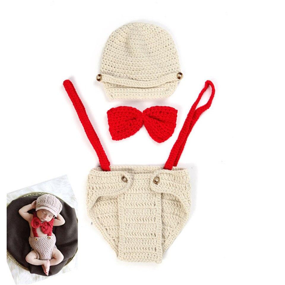 Venta caliente accesorios de fotografía recién nacido bebé tejido ...