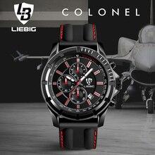 LIEBIG Grand Cadran Quartz Montres Hommes Sports de Plein Air Montre 50 M Étanche Mode Casual Calendrier Montres Militaires SX161015