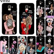 Чехол для телефона Samsung Galaxy S10, чехол s8, S7, S9, J7, J4, J6, J8 Plus, Note 8, 9, коричневый цвет, мама, ребенок, мышь, супер мама, девочка, Etui, чехол