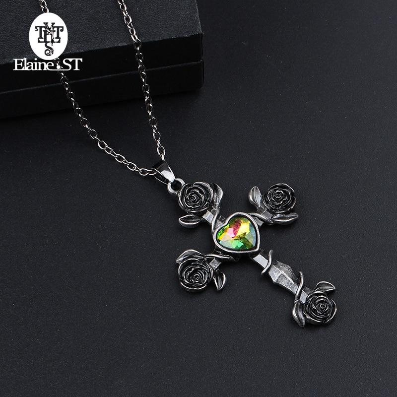 Unique Rose Gold Cross Necklace for Women