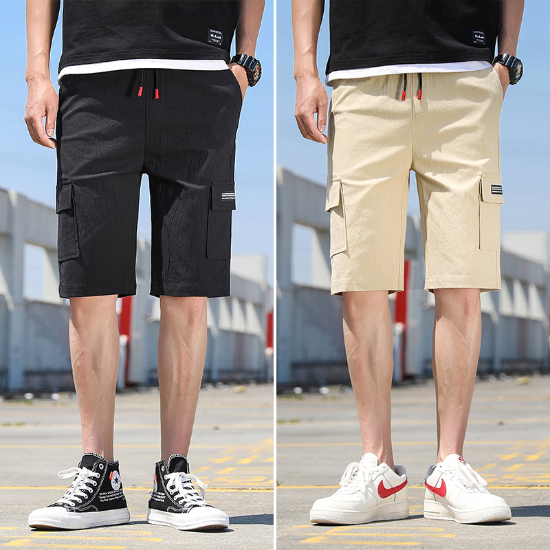 Summer Casual Shorts Men's Cotton Sports Five Points Seven Points Leisure and Fitness Shorts Men's Loose Beach Pants