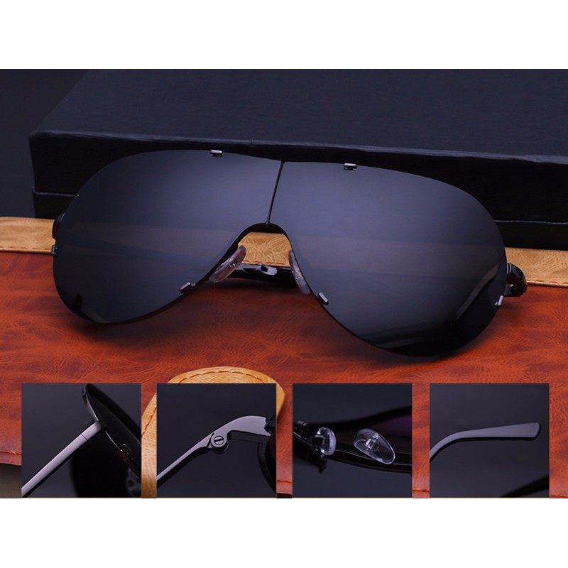 Lager Motorcycle Sunglassses Men Women Oversize Frameless Sunglasses Foldable Glasses Big Moto Goggles 8487 (10)