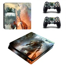 Skypim Decal Skin For PS4 Slim Console Cover For Playstation 4 PS4 Slim Skin Stickers+ Controll