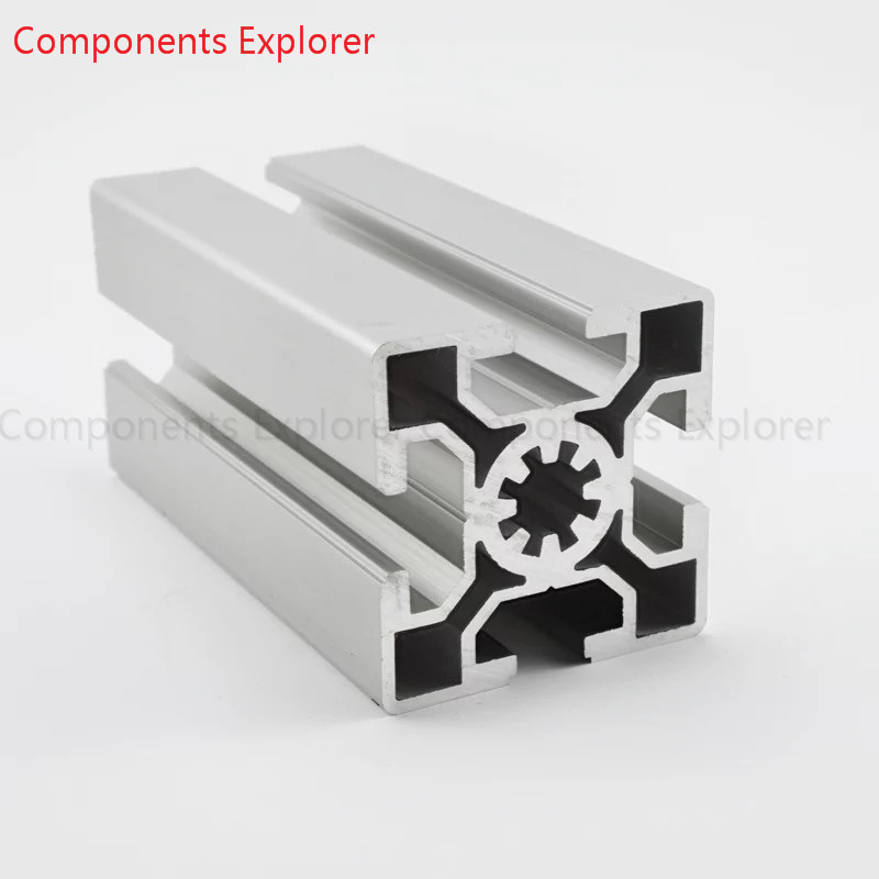 Arbitrary Cutting 1000mm 5050 Aluminum Extrusion Profile,Silvery Color.