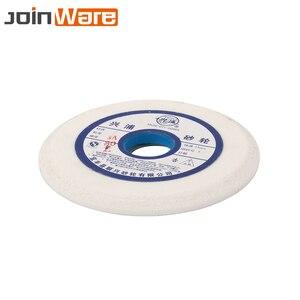 Image 5 - 150mm branco corindo cerâmica rebolo 46 60 80 # para metalurgia hss alta aço carbono 32mm abertura 10mm espessura
