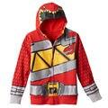 Novos rangers meninos camisola Hoodies Zipper das Crianças Primavera Queda Crianças Roupas menino Dos Desenhos Animados com capuz casacos com capuz