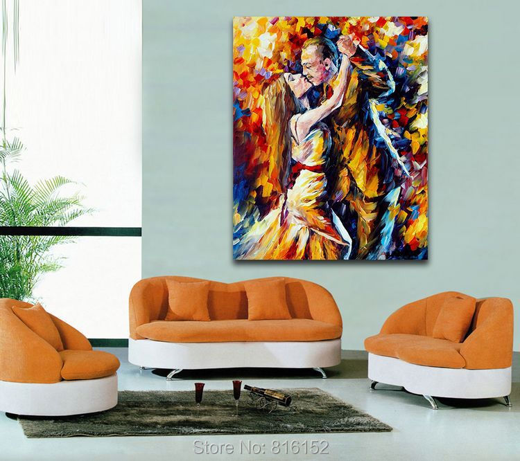 Tango Of Past Years Canvas Wall Paintings Romantic Kiss Oil Paint Printed  On Canvas Bedroom Decor In Painting U0026 Calligraphy From Home U0026 Garden On ...