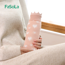 FaSoLa Hot Water bag Rubber Microwave Heating Hot Water Bottle Heat Hand Warmer Bag With Knitted Cover For Winter Keep Hand Warm