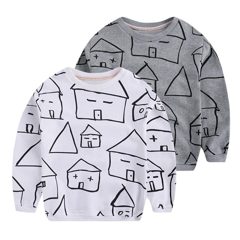 2017 Spring cotton Terry Boys Hoodies Kids Long Sleeve T-shirt Children Sport Hoodies Fashion Tops girls sweatshirt 90-140cm
