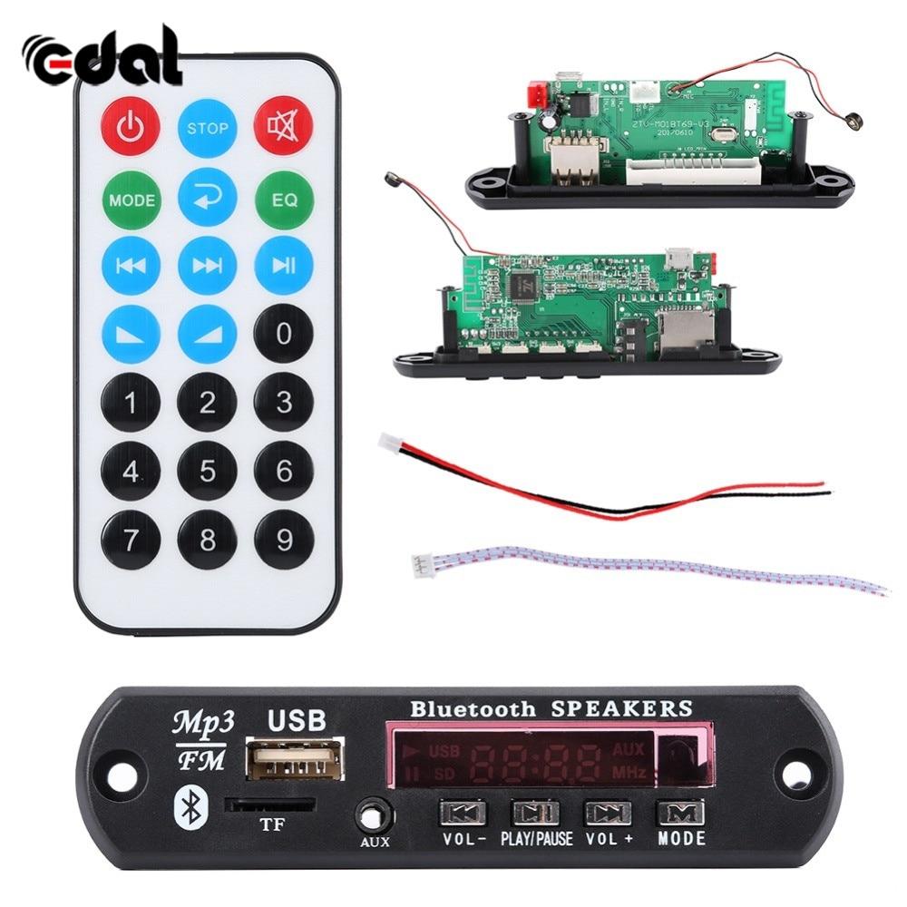 12V Buetooth 4.2 Micro USB MIC 3.5MM AUX FLAC MP3 WMA Decoder Board Audio Module USB TF Radio For Car