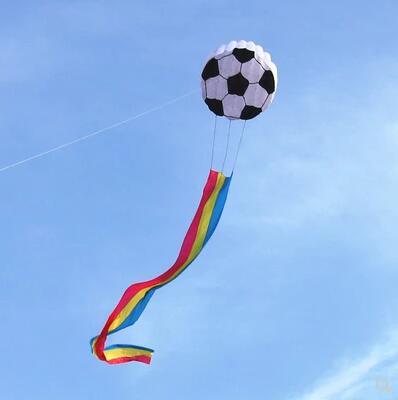 Livraison gratuite haute qualité football doux cerf-volant ripstop nylon tissu cerfs-volants pour adultes parapente cerf-volant bobine vent chaussette drachen cerf-volant