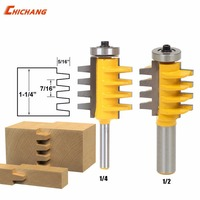 1 2 1 4 T Type Shank 3teeth Tenon Cutter Reversible Glue Bits Joint Router Bit