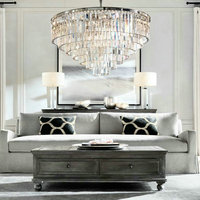 Vintage Elegant Black Crystal Chandelier Lustre Crystal Lighting For Living Room Bederoom Indoor E14 Led Chandeliers