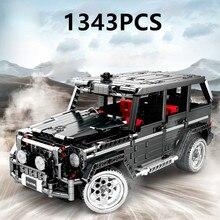 1343pcs Technic Creator Series Simulation SUV Car Merceding-Benz G-Class G500 Model MOC Building Blocks Sets Bricks Toy Kid Gift