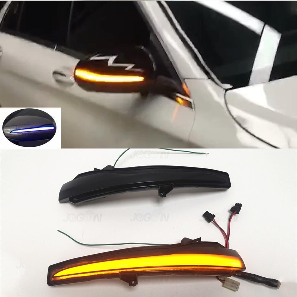 Miroir séquentiel d'indicateur de clignotant dynamique de LED pour Mercedes Benz C E S GLC W205 X253 W213 W222 V classe W447 avec le bleu