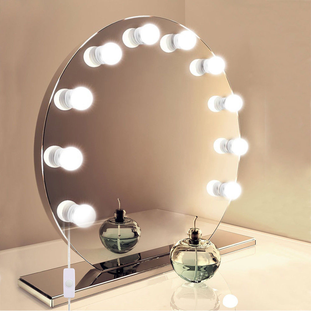 10 LEDs Makeup Mirror Light Bulbs Adjustable Lamp for Bedroom Dressing Table Salon Comestics Lights Kit Lighting String AGU13D1 wooden dressing table makeup desk with stool oval rotation mirror 5 drawers white bedroom furniture dropshipping