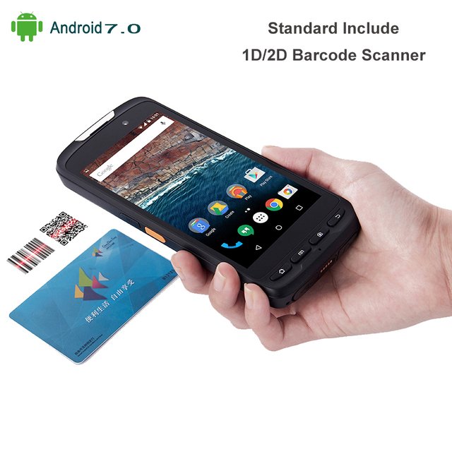 """High Quality 5"""" Tablet Handheld Device Mobile Data Terminal Android 7.0 1D 2D Laser Barcode Scanner 4G 2GB RAM with Pistol"""