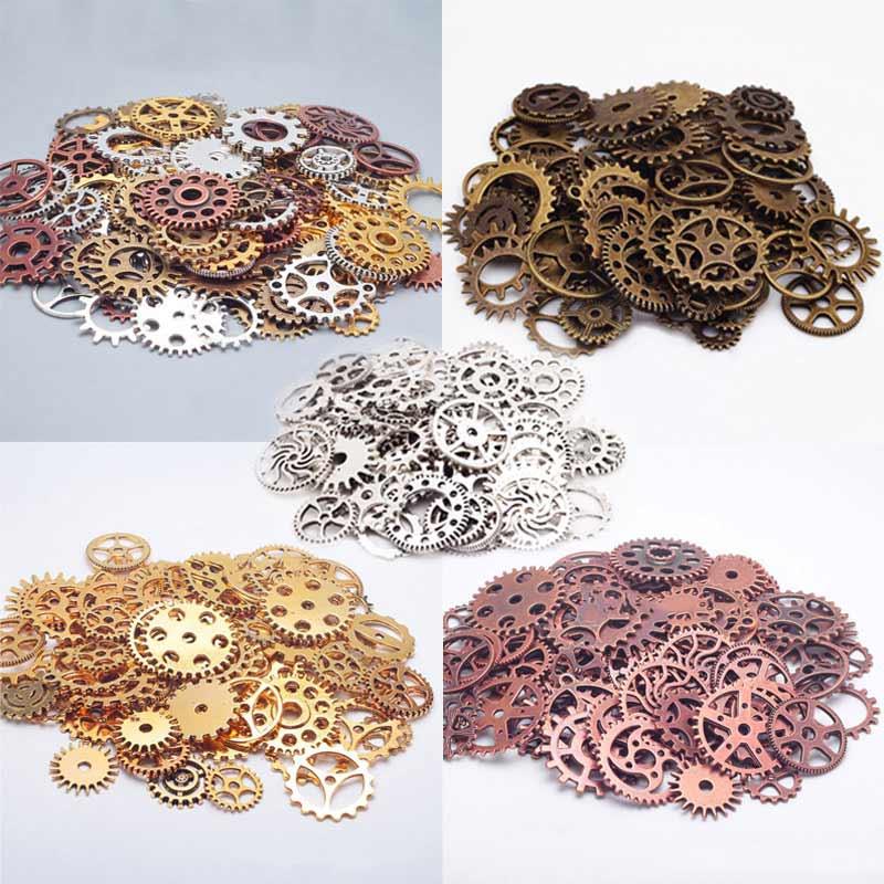 100g Steampunk Cogs Und Zahnräder Uhr Hand Charms Fit Diy Armbänder Halskette Diy Schmuck Machen Ll @ 17 PüNktliches Timing