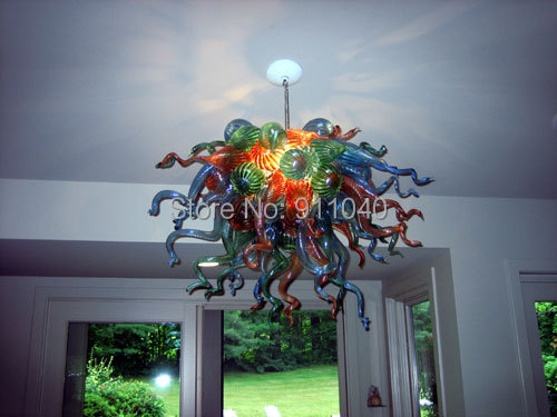 Vingate design chandeliers multicolor chihuly style small led hand vingate design chandeliers multicolor chihuly style small led hand blown glass chandeliers lr427 aloadofball Gallery