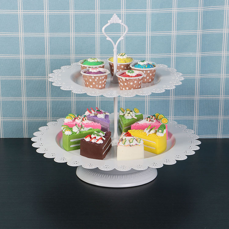 Online Shop Tiers White Fruits Cakes Stands Desserts Plate